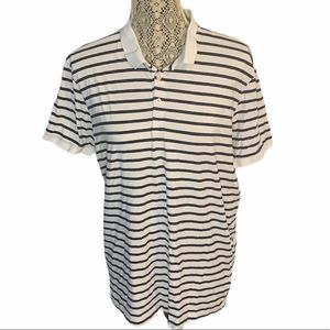 3/$30 H&M Basic Collared Striped Tee Size Large